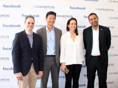 Jonathan Blum, Presidente De Cisneros Media, Victor Kong, Presidente de Cisneros Interactive, Adriana Cisneros, CEO y Vice Chairman de Cisneros, y Hernan Burak, Head Of Agency South Cone Facebook.