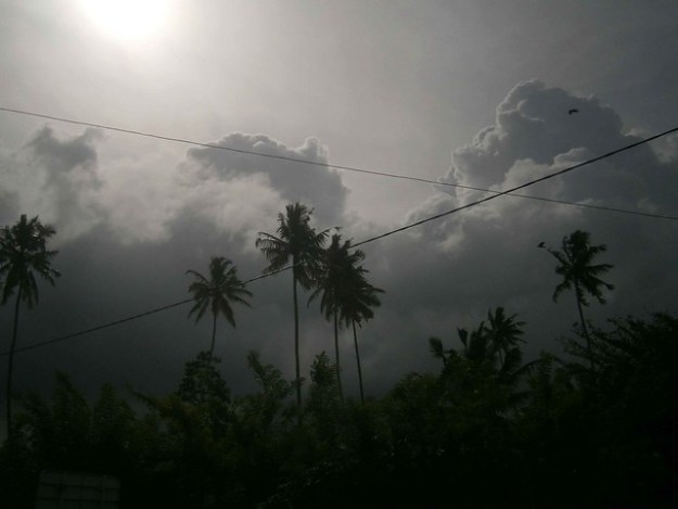 Approaching Afternoon Storms In Weligama