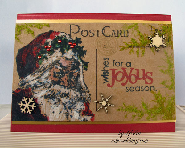 Vintage Post Card This Is A Christmas Card Inspired By