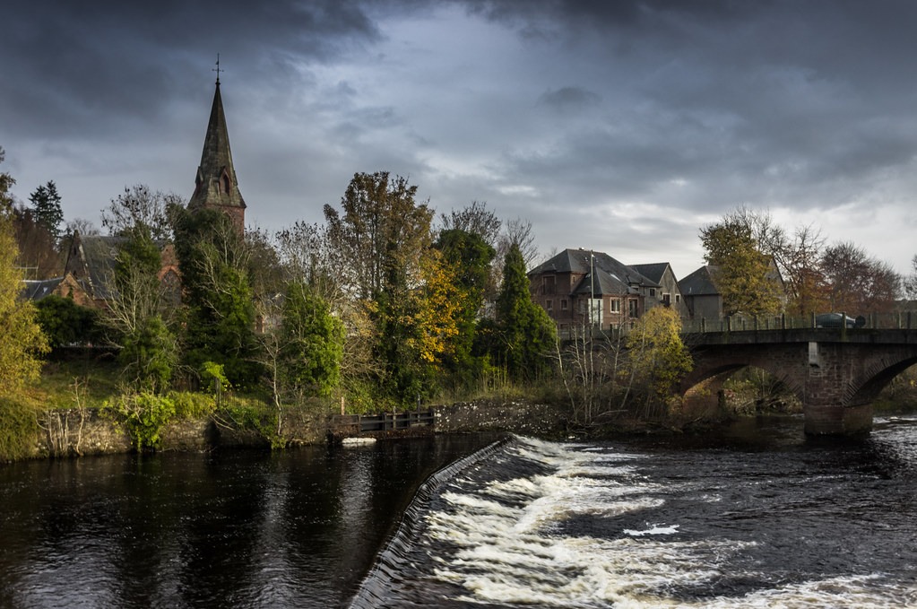Blairgowrie Just Down From The Bridge In The Centre Of