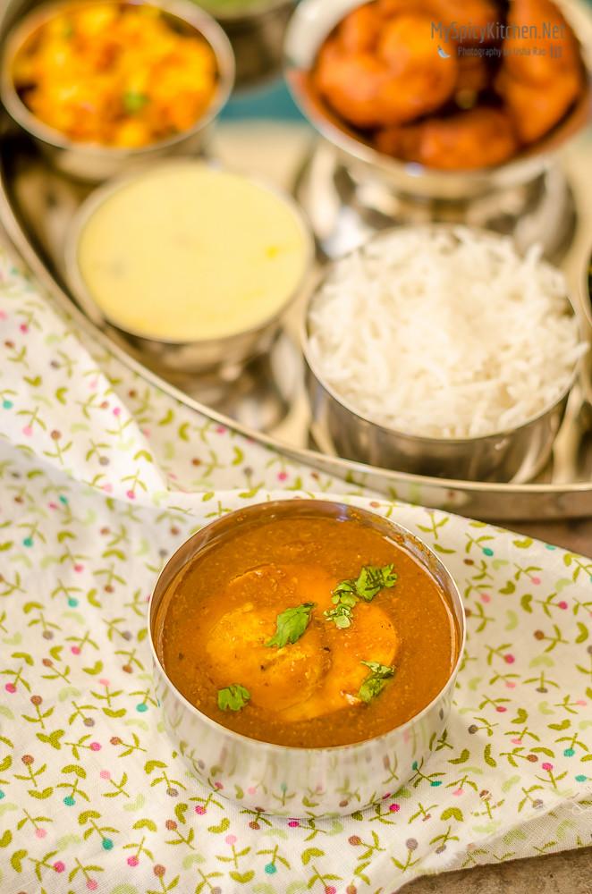 Egg Rassa, Anda Rassa, Kolhapuri Anda Rassa, Maharashtrian Egg Curry,  Maharashtrian Thali, Maharashtrian Food, Maharashtrian Cuisine,