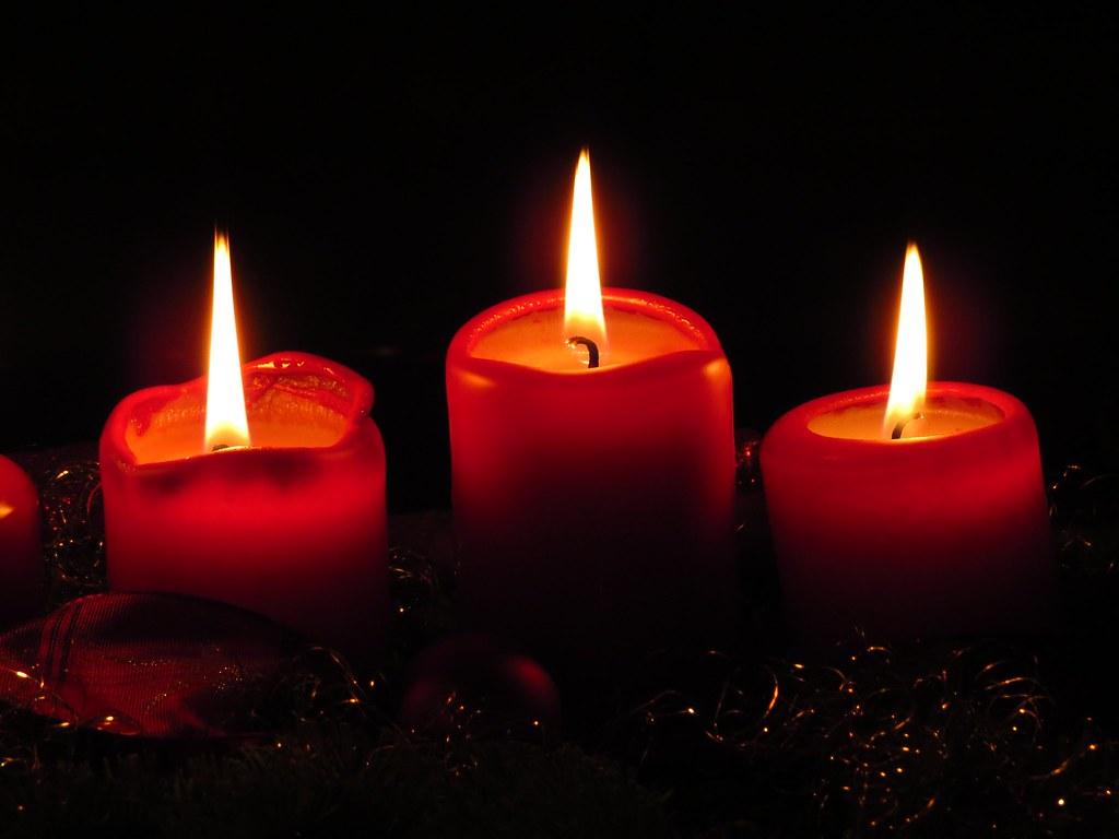 Imagen gratis de velas de Navidad rojas