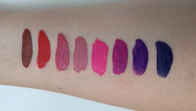 Mini lipstick swatches