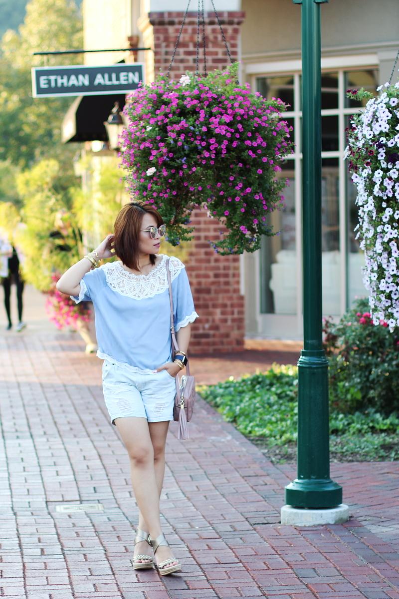 lace-off-shoulder-top-distressed-denim-shorts-7