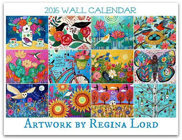 2016 Art calendar by Regina Lord