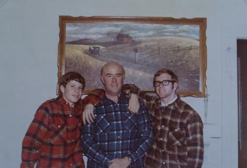 Stephen, Houston, Dad at Gray Court 1968