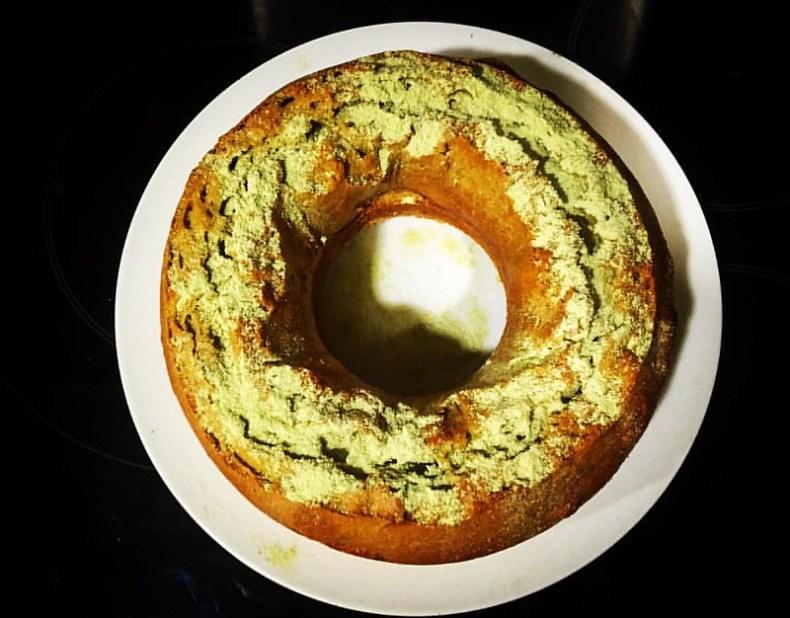 Bizcocho de té verde Matcha