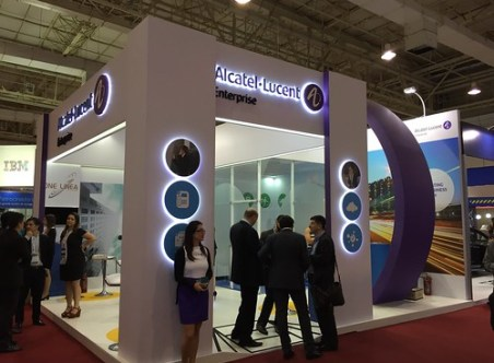 Stand Alcatel-Lucent en Futurecom 2016.