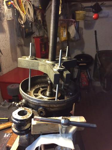 Smontaggio carter motore Lambretta 150D