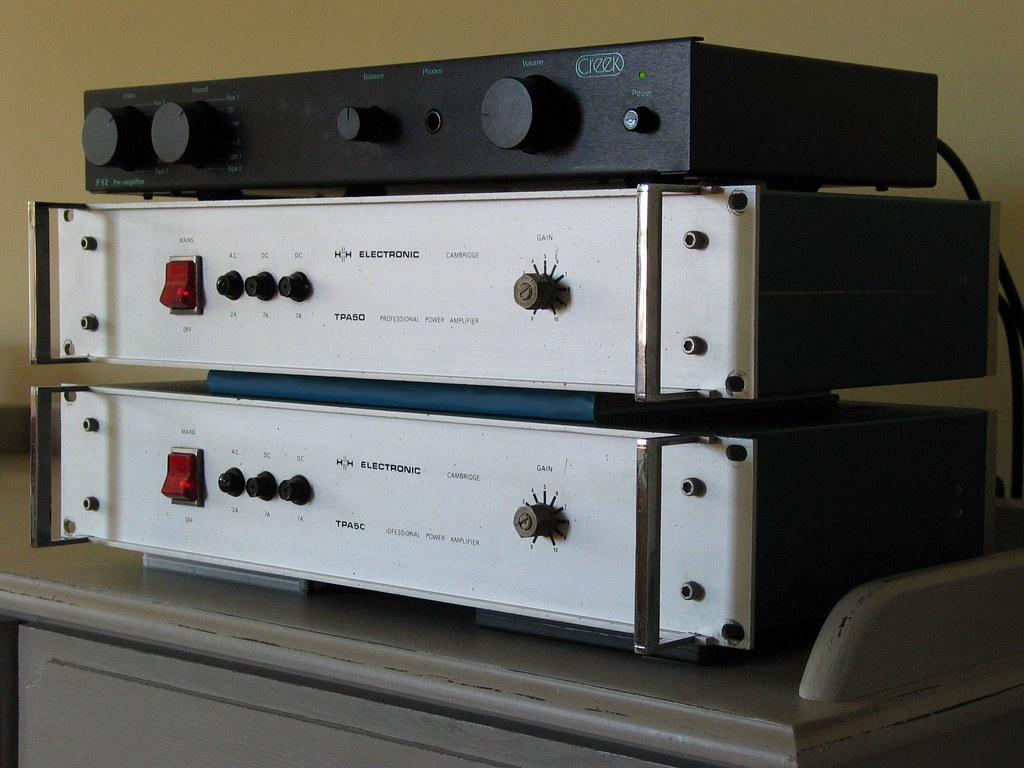 Creek P42 Pre Amplifier H H Electronics Tpa50 Mono Block