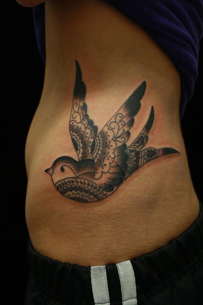 Bird Ribs Swallow Tattoo