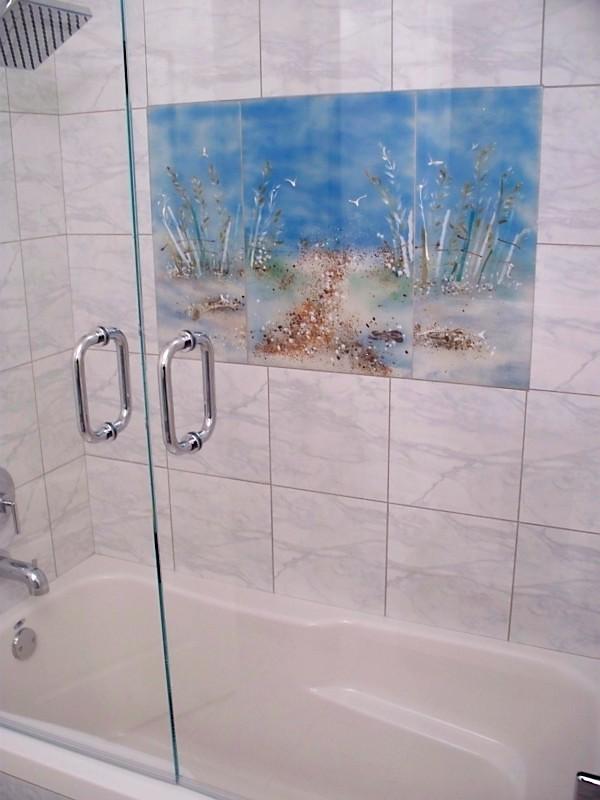 Marble Showertub Glass Mural BeaglesDoItBetter Flickr