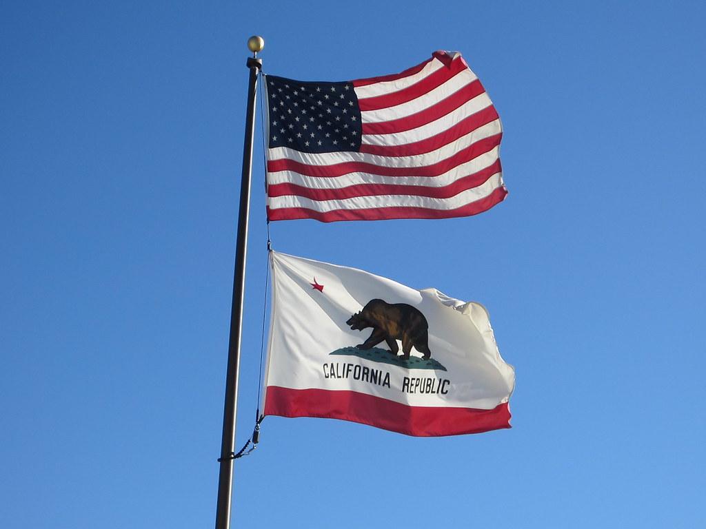 United States Flag Amp California State Flag
