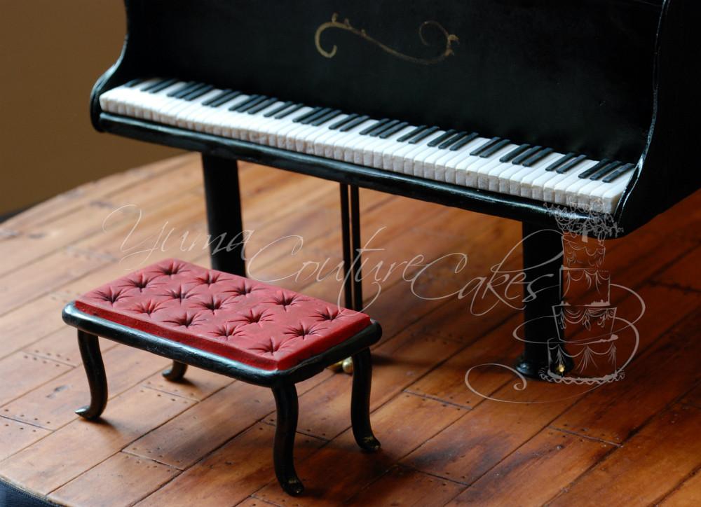 Baby Grand Piano Cake Yuma Az Fondant Wood Grained Board