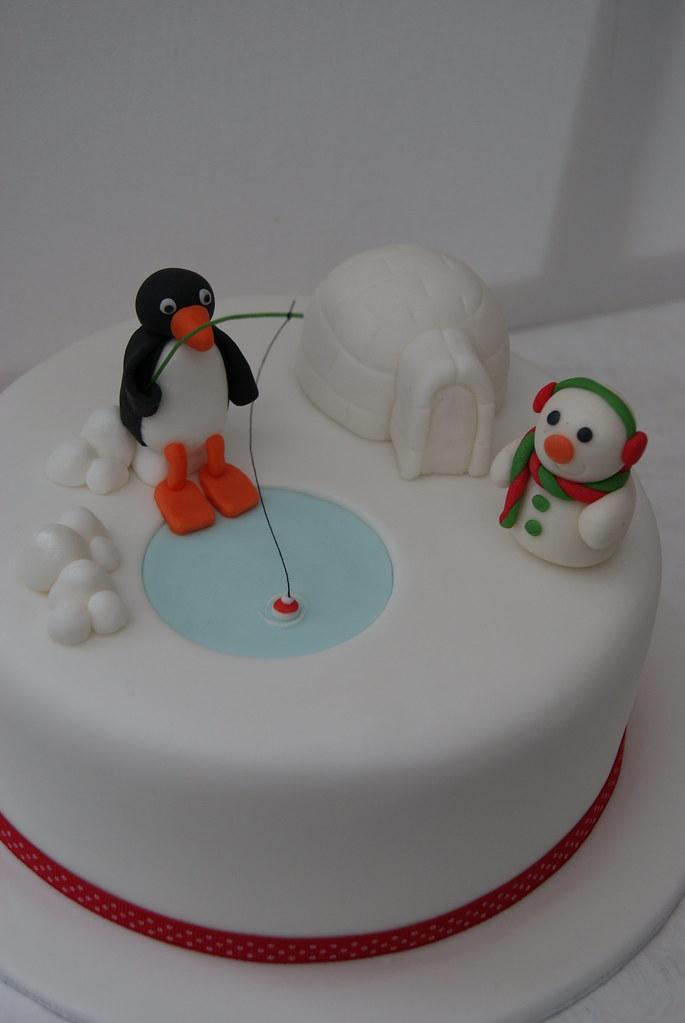 Pingu Christmas Cake For My Mum 8 Rich Fruit Cake