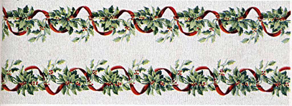 1913 Christmas Crepe Paper Banner 3 Crepe Paper