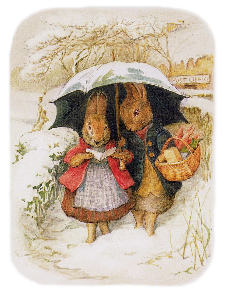 Beatrix Potter Bunnies In Winter I Needed A Color
