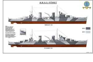 1941: The two camouflage schemes of HMAS SYDNEY [II]  Dia… | Flickr