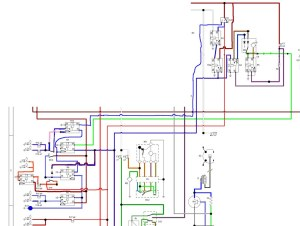 Wiring diagram for the dimdip system fitted to Reliant SST
