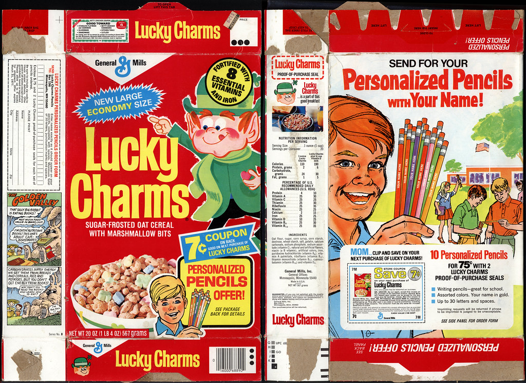 Lucky Charms Box Template