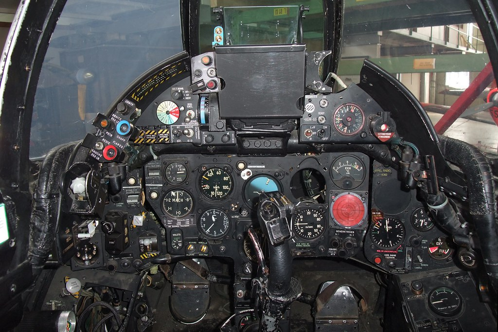 Hawker Hunter J 4062 Cockpit In Service Of The Swiss Air