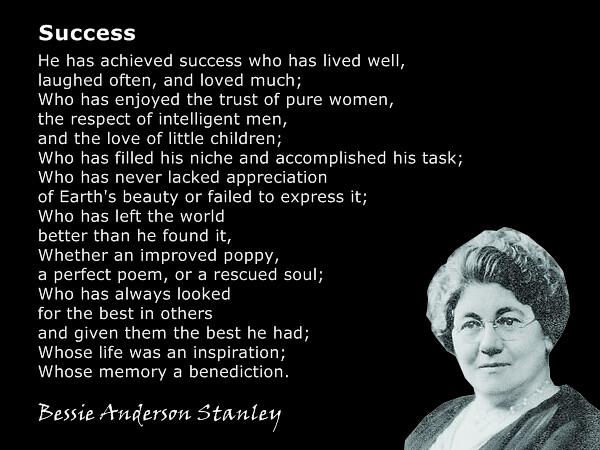 Laugh Often And Much Bessie Stanley