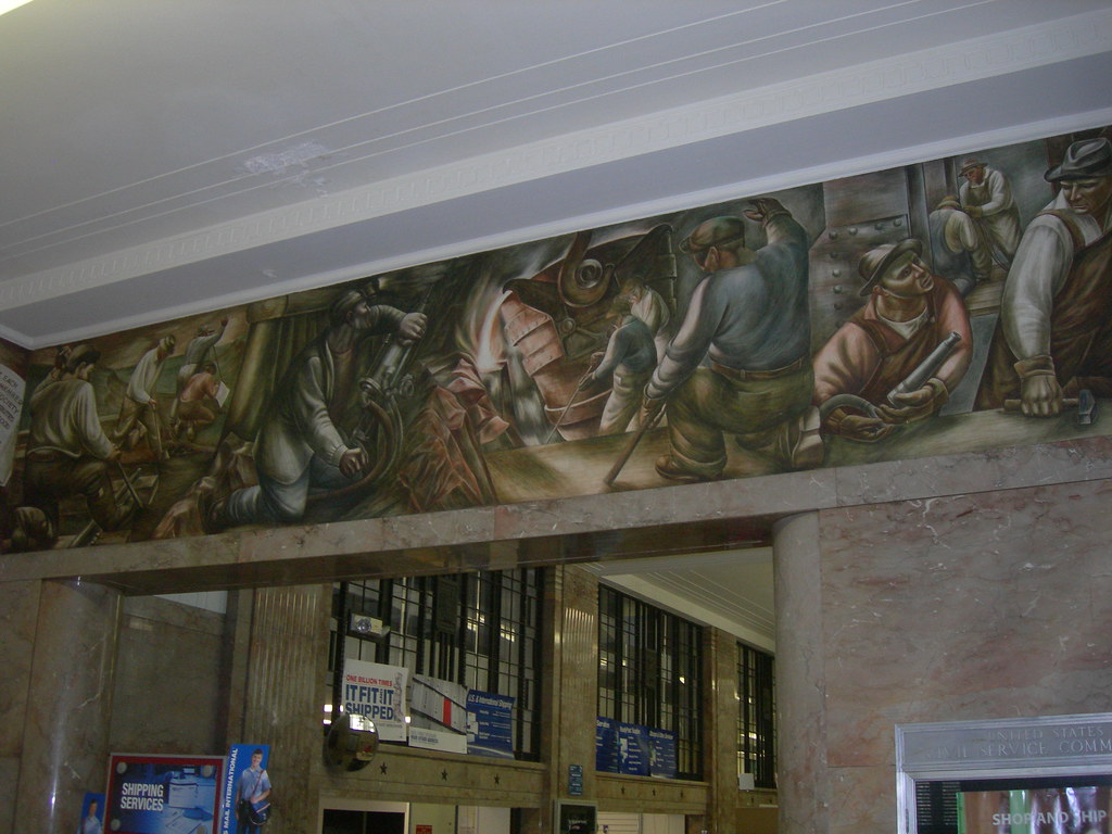 Decatur Illinois Post Office Mural A Section Of A Wrap