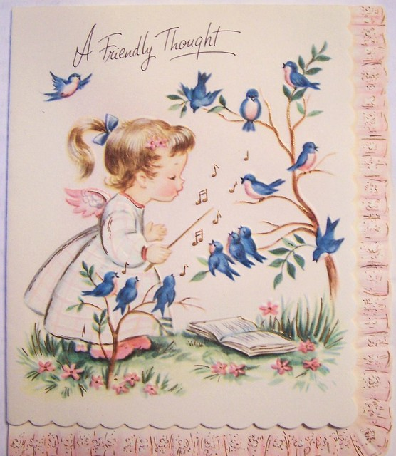 A Friendly Thought Vintage Greeting Card Part Of My