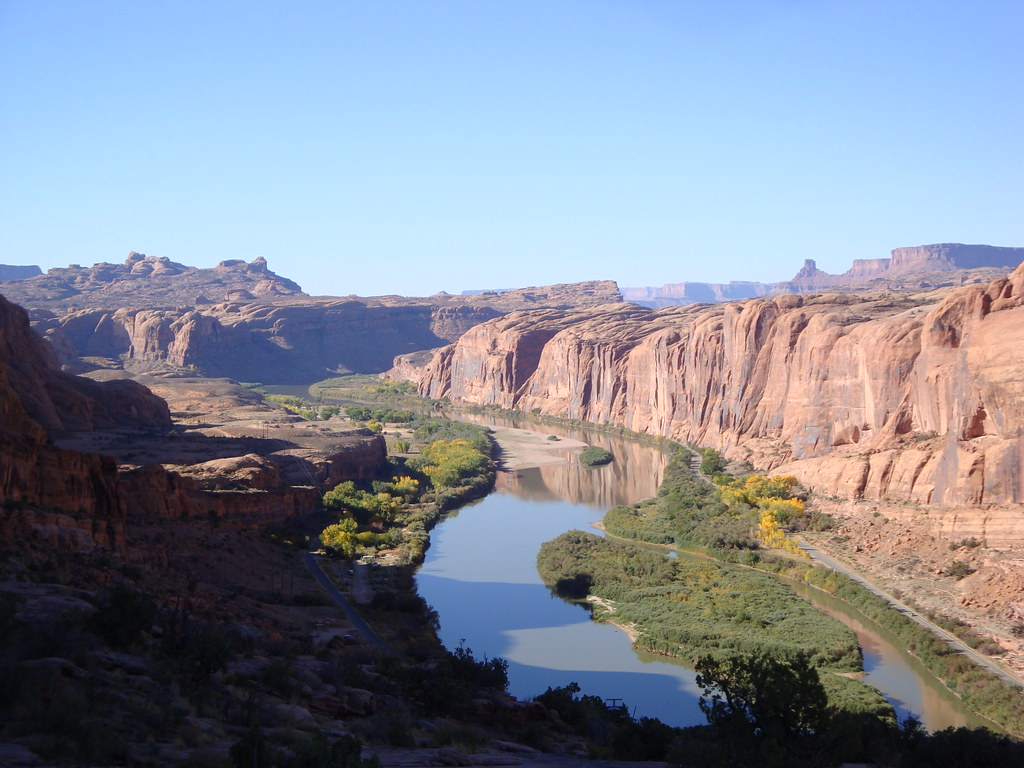Colorado River From Moab Rim More Than Half Of The