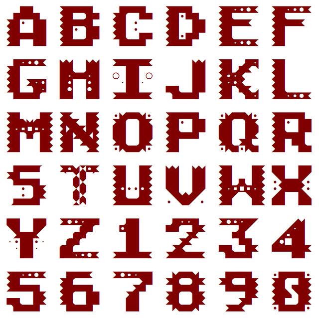 Native American Atari 800XL Font Flickr Photo Sharing