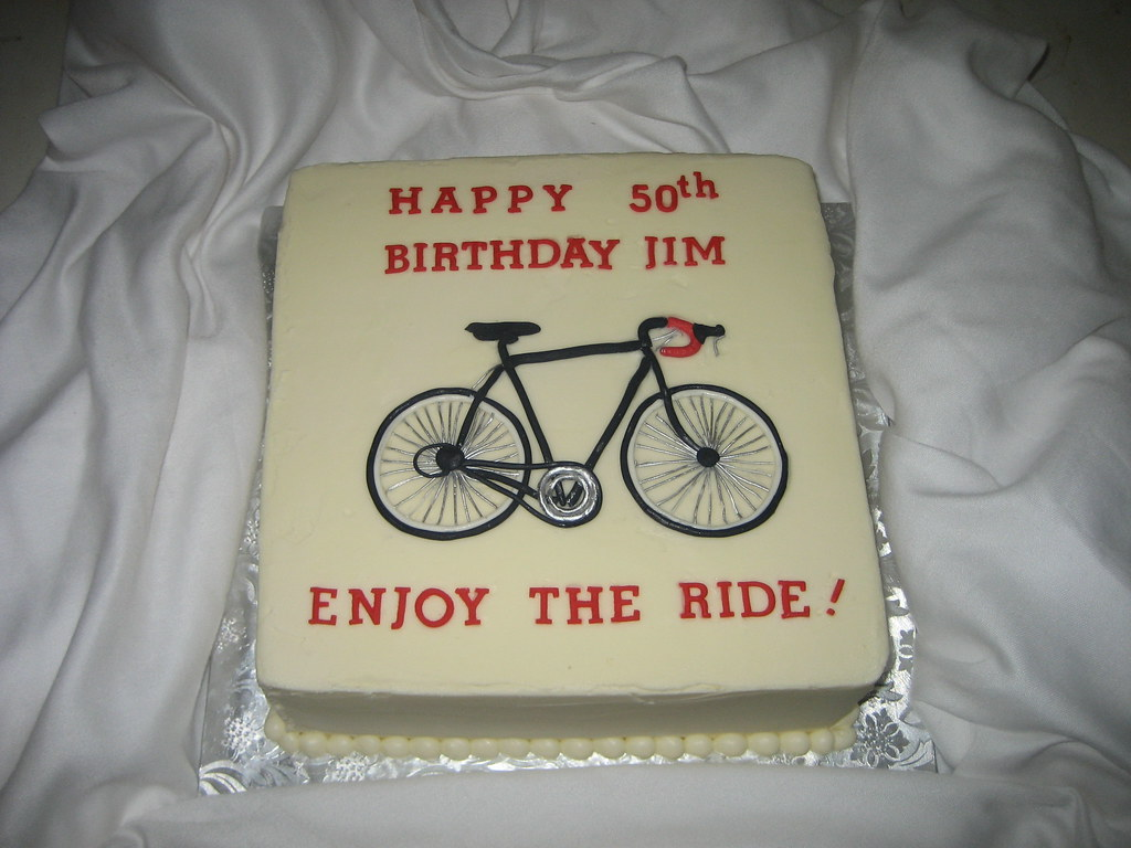 50th Birthday Bike Cake Buttercream Cake Decorated With
