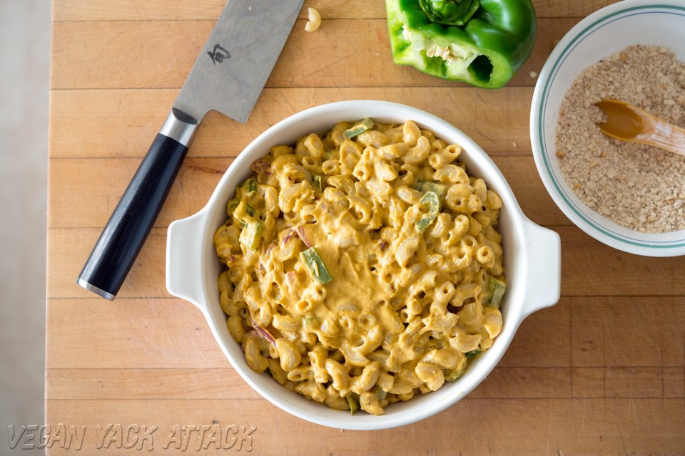 This creamy, spicy Chipotle Mac and Cheese would make a tasty addition to any summer gathering! #glutenfree #vegan #soyfree