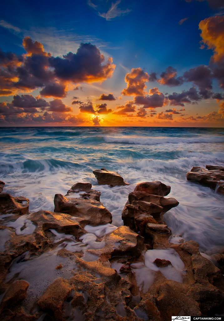 Carlin Park Sunrise Over Atlantic At Beach Rocks Captainki Flickr