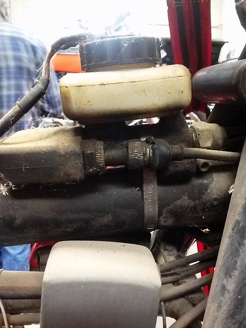 Master Cylinder & Fluid Reservoir Mount Under Gas Tank