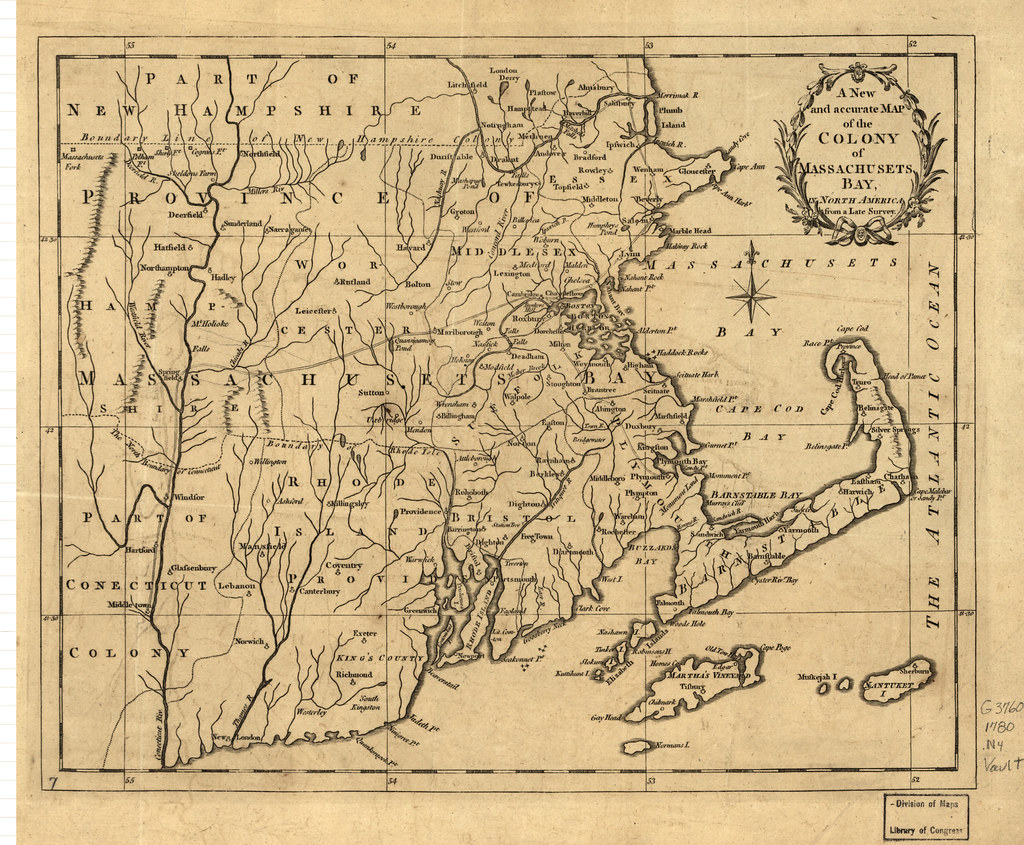 A New And Accurate Map Of The Colony Of Massachusets I E