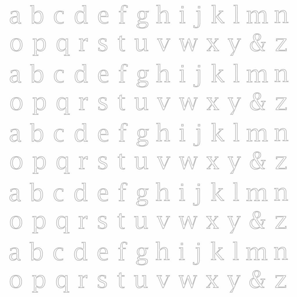 20 Cool Grey Light Neutral Lowercase Alphabet Outline 12 A