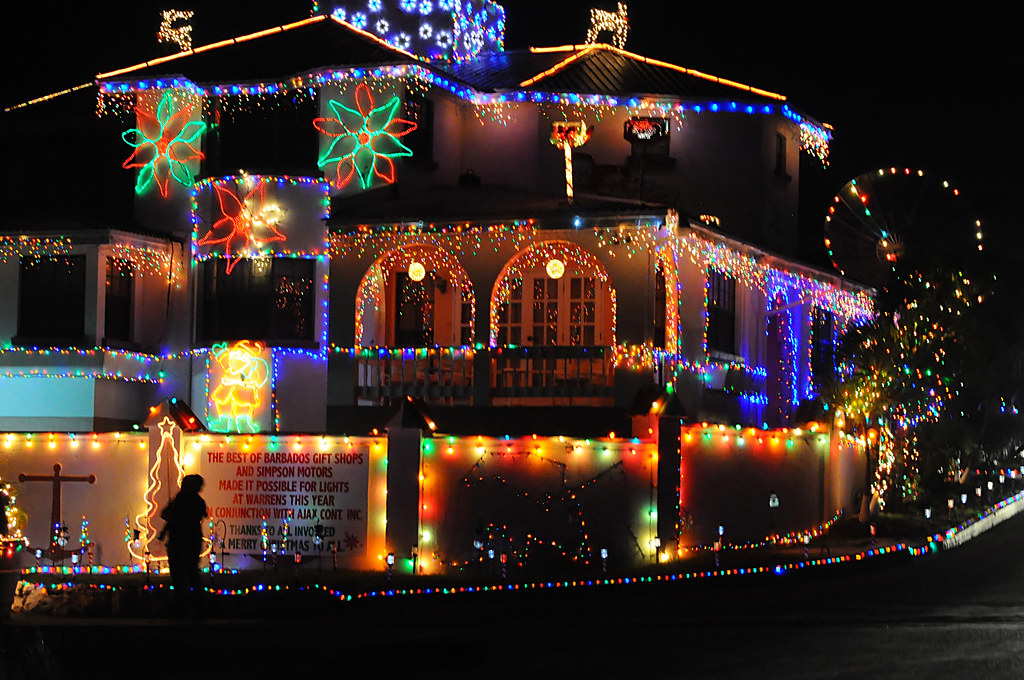 Christmas Lights House Barbados Dec 2011 Dswilly Flickr