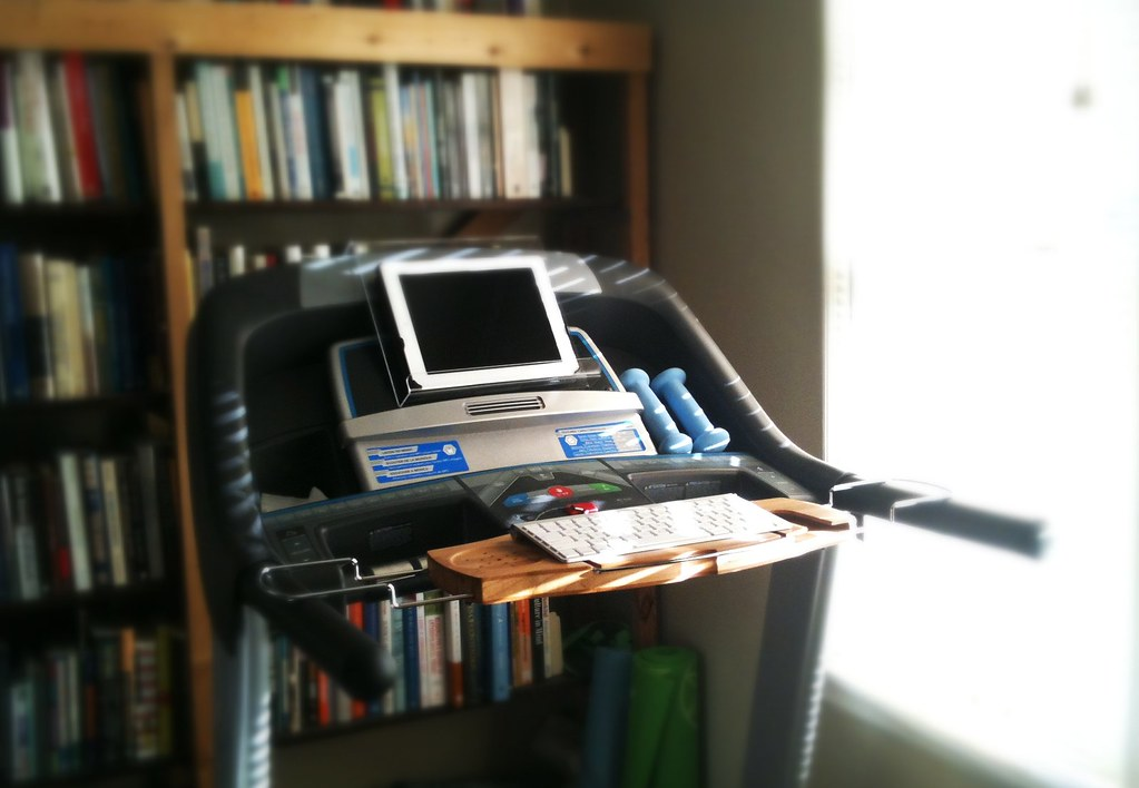 Treadmill IPad Desk With A Book Holder For The IPad