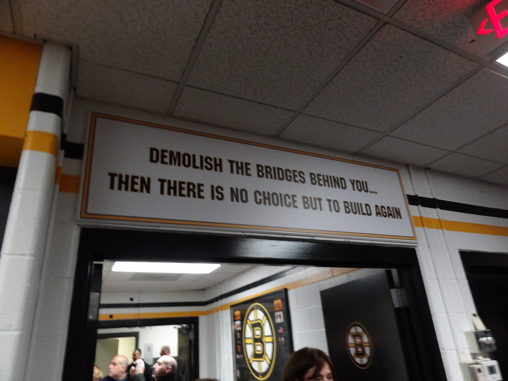 Door Leading Out Of The Boston Bruins Locker Room The