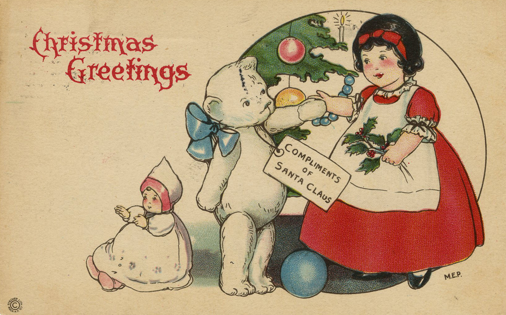 Margaret Evans Price Christmas Card Art By Noted