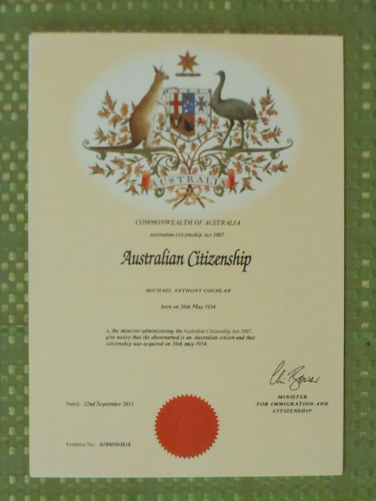 Australian Citizenship Curiously I Had To Get Proof Of