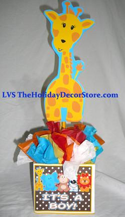 Personalized Safari Birthday Party Supplies Baby Giraffe 1