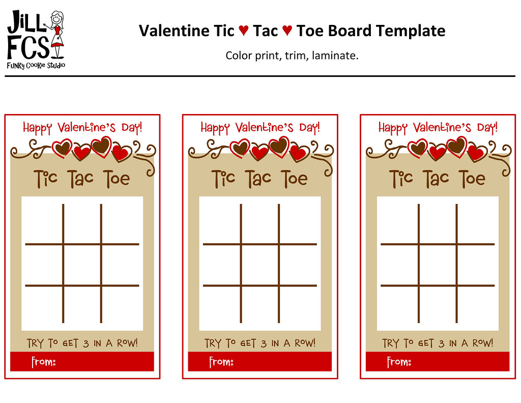 Valentine Tic Tac Toe Board Template