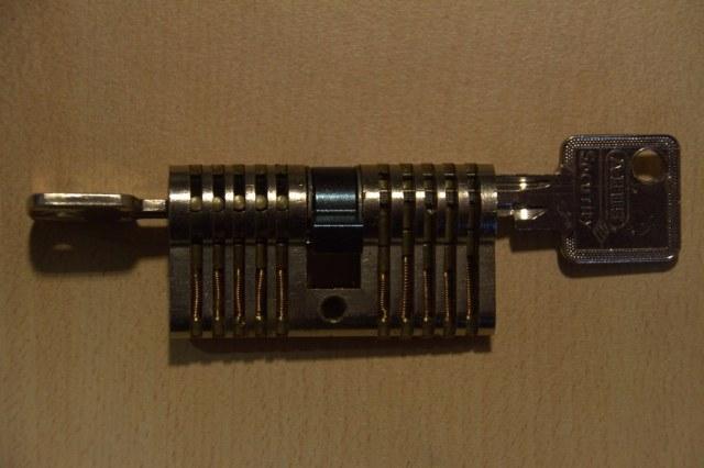 A bare cylinder lock
