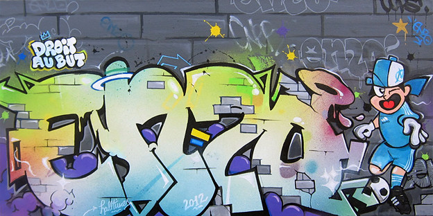 TABLEAU GRAFFITI ENZO Le HALLTIMES Studio Ralise