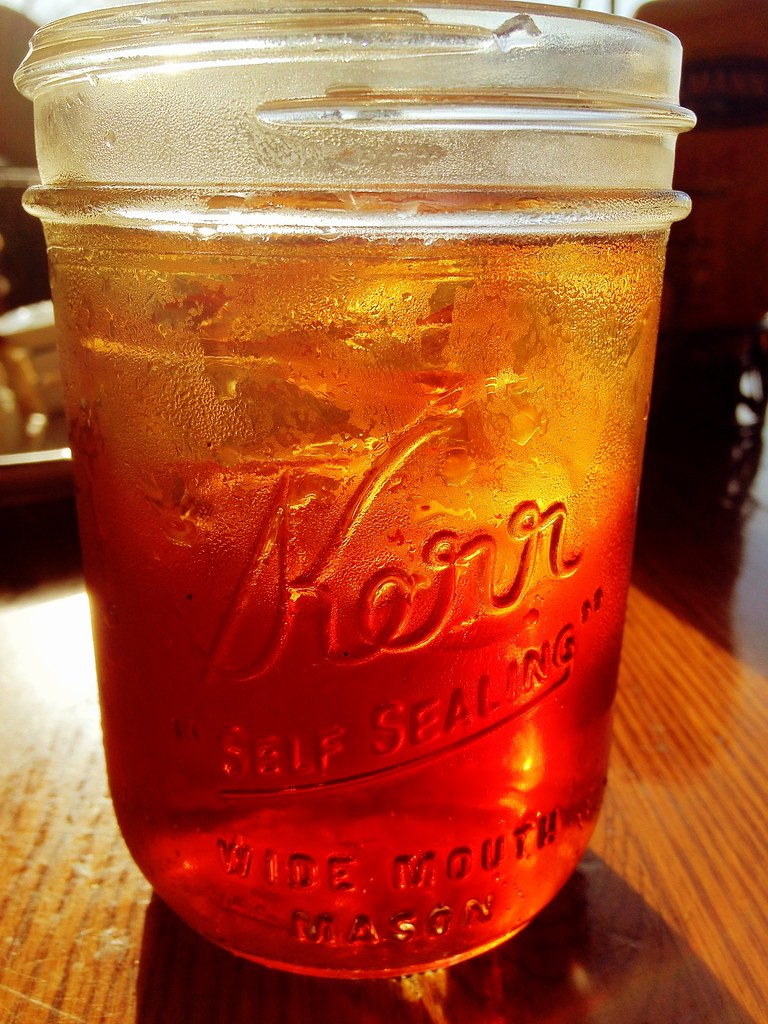 Iced Tea In A Mason Jar At Callaway Gardens Country Store