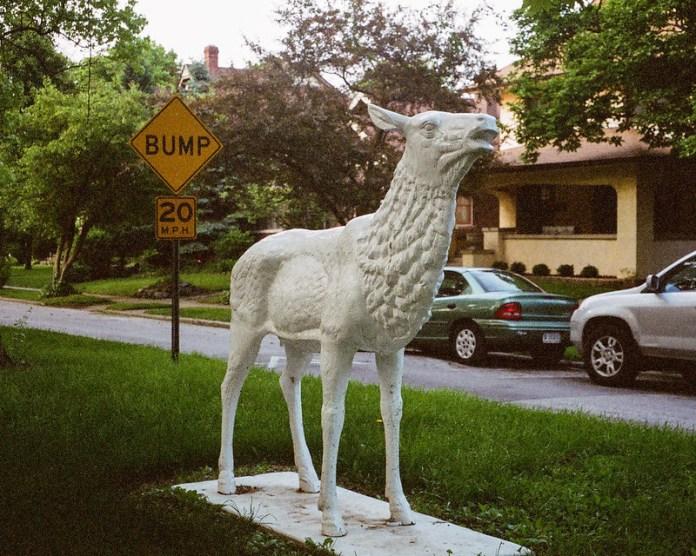 Statue in Woodruff Place