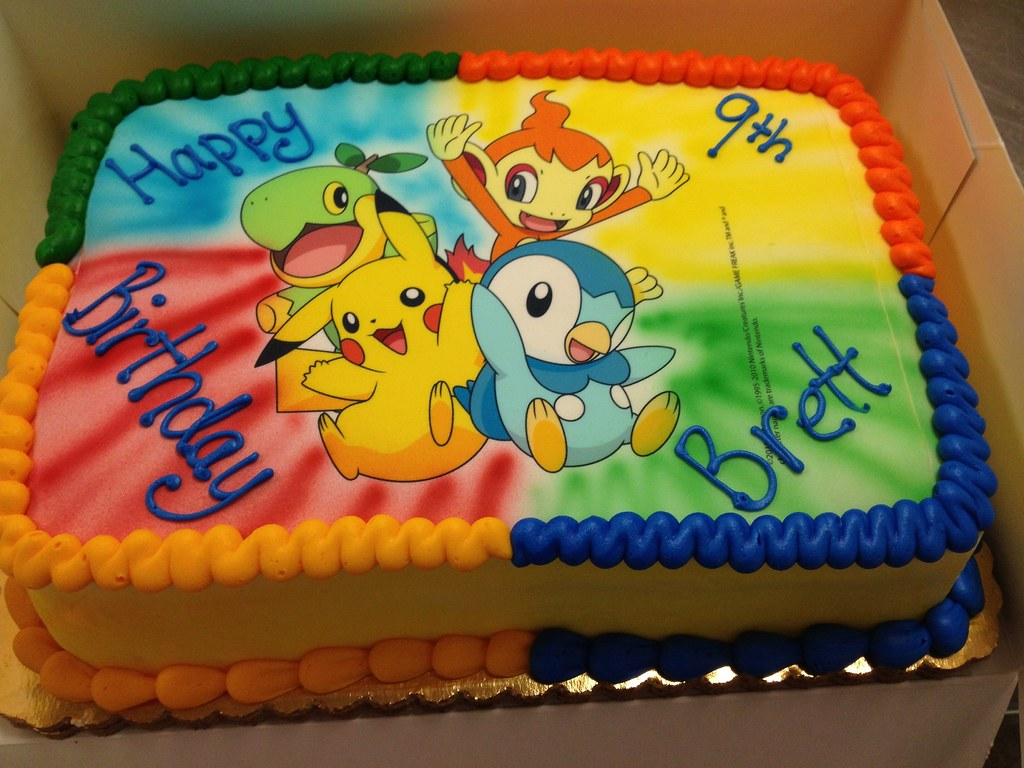 Walmart Boys Birthday Cakes Pokemon