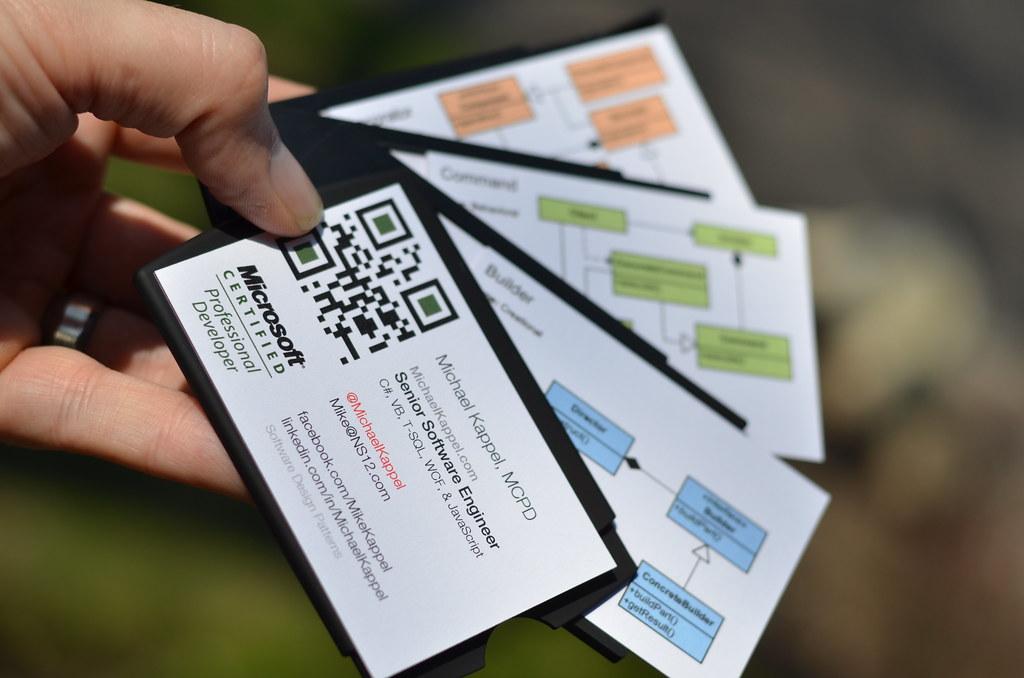 Software Developer Business Cards Microsoft Certified
