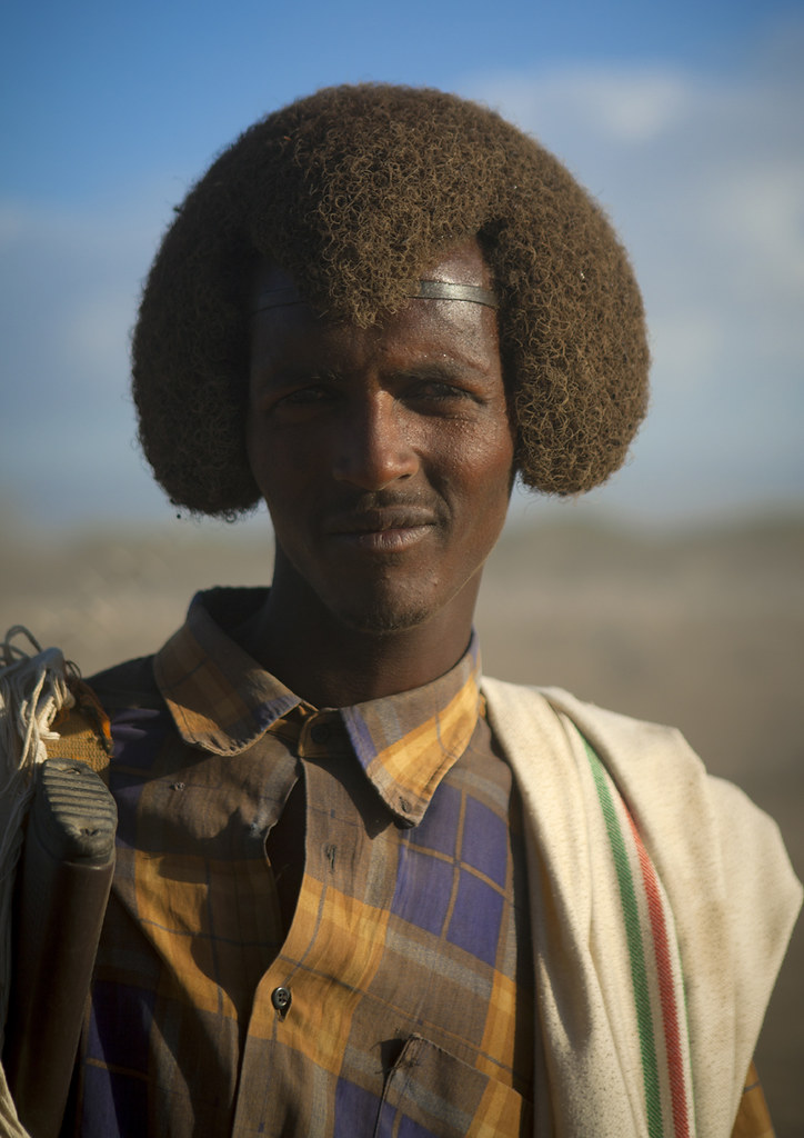 Karrayyu Man With His Gunfura Traditional Hairstyle In Gad